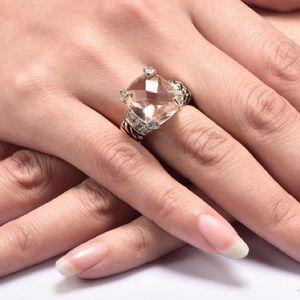 💕Morganite Silver Ring